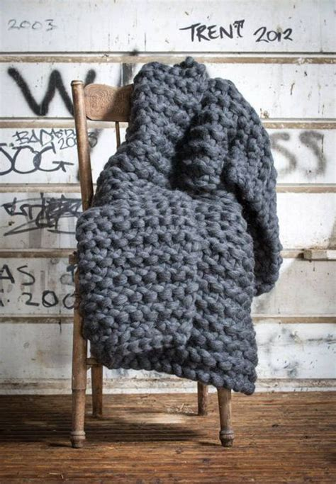 Decke Grobstrick by Chunky Wool Blankets To Buy Or Diy Wolle Stricken