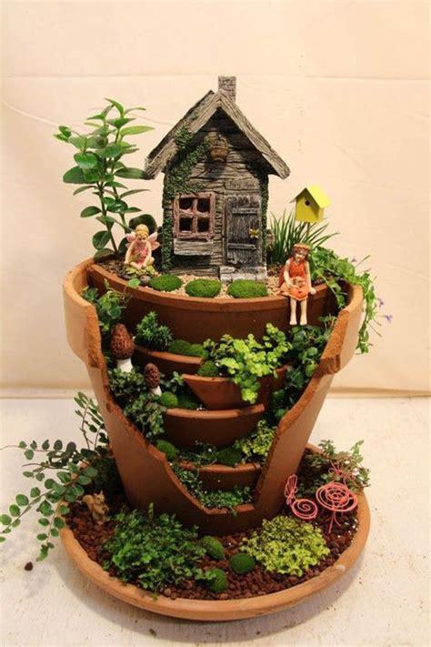 Broken Pot Garden by Gardens Made From Broken Planter Design Swan