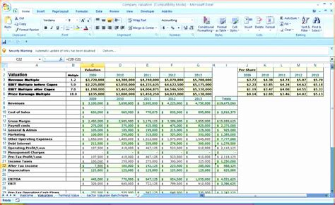 10 corporate budget template excel exceltemplates