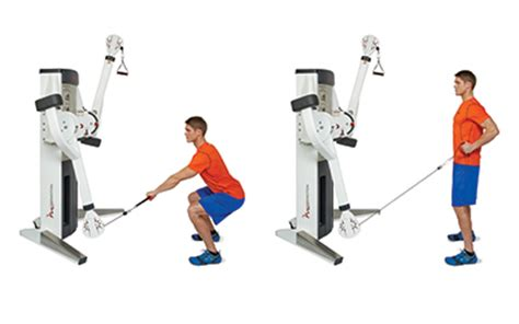squat bench row a dual cable cross machine workout experience