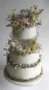 Handcrafted Cakes - cake an exquisite summer meadow wedding cake of