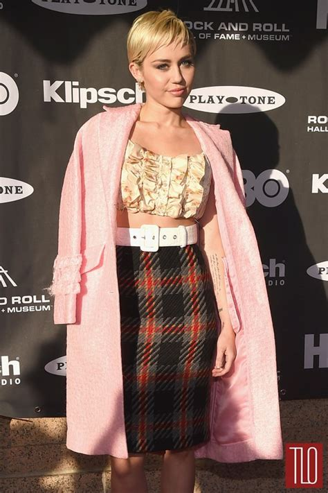Fame Miley Cyrus miley cyrus in miu miu at the 2015 rock and roll of