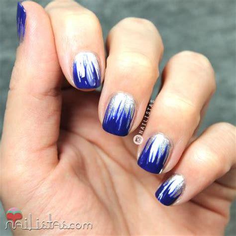 imagenes uñas decoradas azul u 241 as azul klein y plata manicura f 225 cil y r 225 pida paperblog