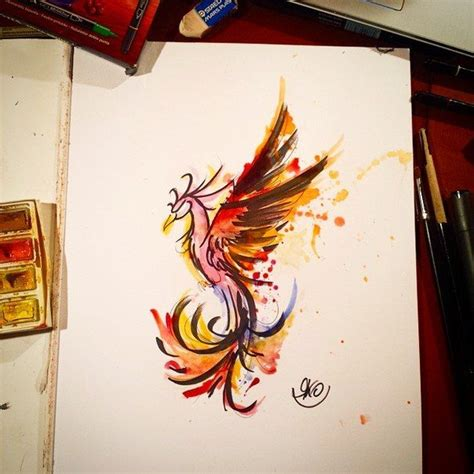 phoenix tattoo and piercing bilston phoenix tattoo watercolor google search piercings and