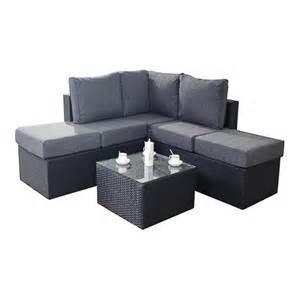 Small Corner Sofa Port Royal Garden Furniture Prestige Black Small Corner