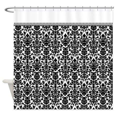 Black Damask Curtains Black Damask Shower Curtain By Inspirationzstore