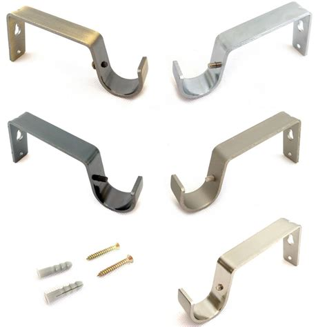 brackets for curtain pole 19mm 28mm heavy duty metal curtain pole rod wall bracket