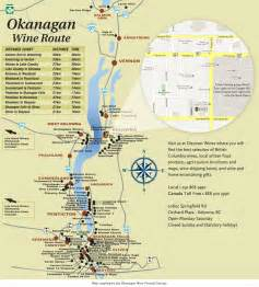 Okanagan Canada Map by Okanagan Wine Map