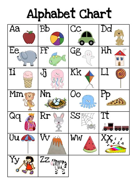 printable kindergarten alphabet chart search results for kindergarten alphabet chart printable