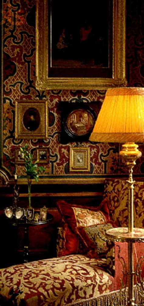 world style  rich textile sitting room library
