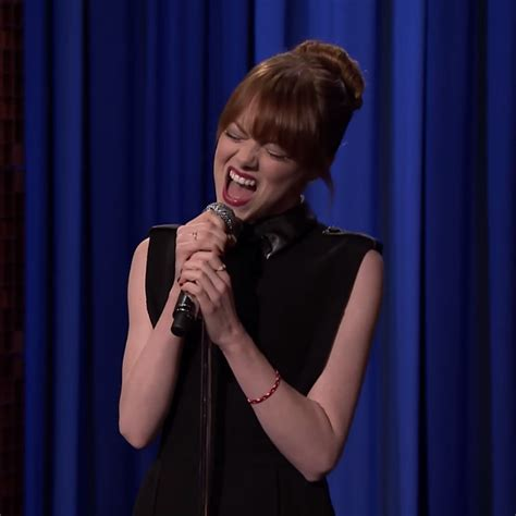 emma stone lip sync songs watch emma stone and jimmy fallon s lip sync battle goes