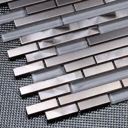 stainless steel kitchen backsplash tiles aliexpress buy silver stainless steel mixed white glass mosaic tiles for kitchen