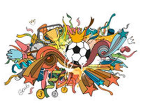 doodle do futebol garatuja do futebol ilustra 231 227 o do vetor imagem 43206762