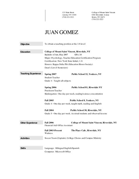 Sle Resume For Kindergarten Teaching Teachers College Resume Sales Lewesmr
