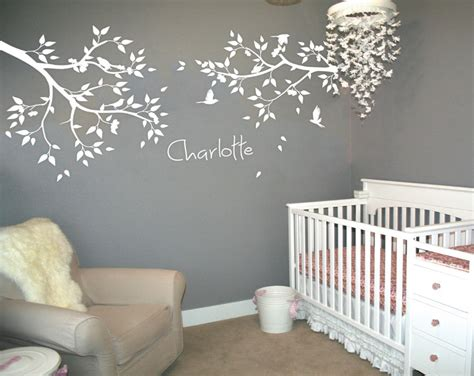 personalized  large tree branches wall stickers flying