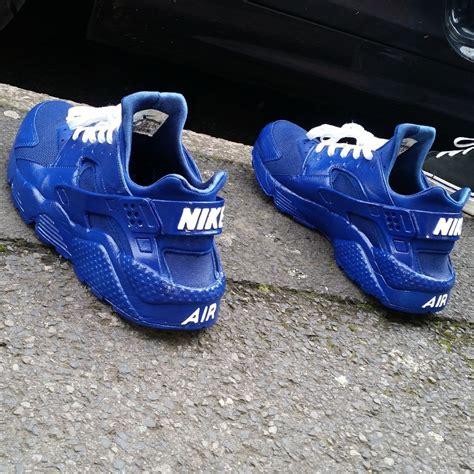 Cheetah Print Duvet Nike Huarache Triple Blue Custom Customs247