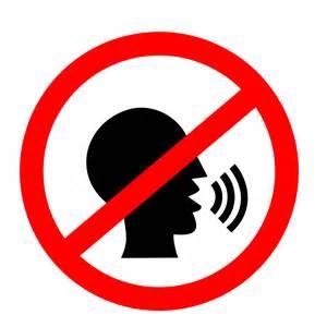 No Talking Clipart clipart no talking sign