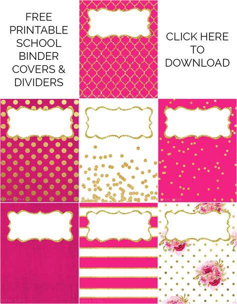 easy printable binder covers binder covers dividers free printables sarah titus