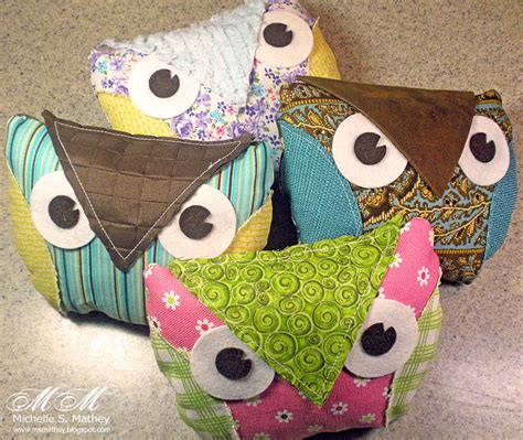 Handmade Owls - pigment of my imagination handmade fabric owls