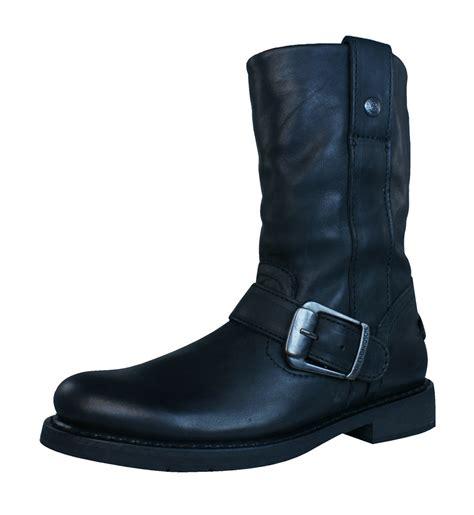 slip on biker boots harley davidson darice womens leather slip on biker boots