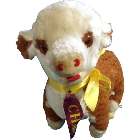 stuffed cow vintage rushton cow plush fair purple winner ch ribbon stuffed from gumgumfuninthesun on ruby