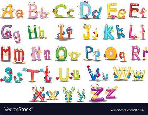 animal alphabet character stock vector alphabet characters vector background