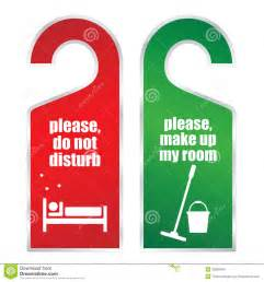 make my room do not disturb and make up my room cards stock vector