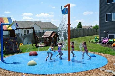 how to make a backyard splash pad backyard home splash pad residential backyard splash
