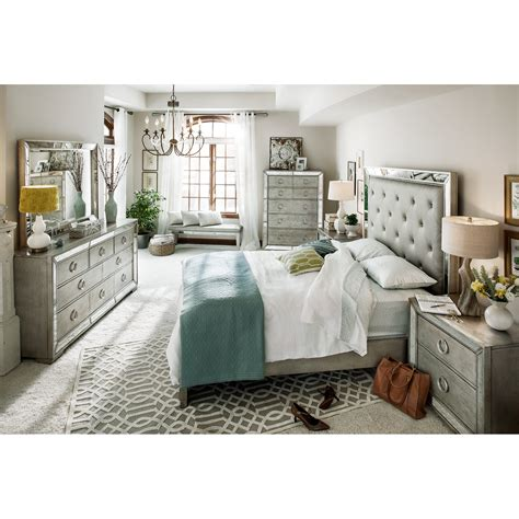 metallic bedroom furniture angelina 5 piece king bedroom set metallic value city