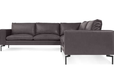 New Standard Small Sectional Leather Sofa   hivemodern.com