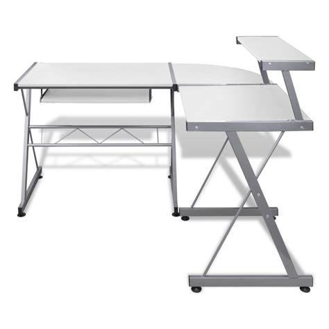 computer desk keyboard tray computer desk workstation with pull out keyboard tray white vidaxl