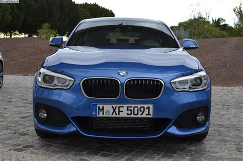 Bmw 1 Series Estoril Blue M Sport by 2015 Bmw 1 Series Facelift With M Sport Package In Estoril
