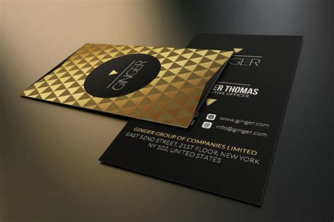 black and gold business cards template gold and black business card template on behance