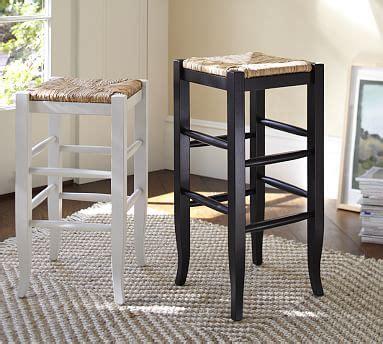 napoleon backless bar counter stool pottery barn