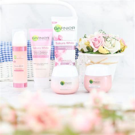 garnier sakura white pinkish radiance skincare series