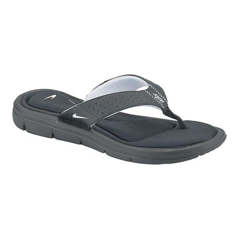 comfort thong sandals nike women s comfort thong sandals black white sport chek