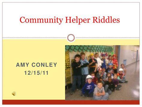 Ppt Community Helper Riddles Powerpoint Presentation Presentation Helper