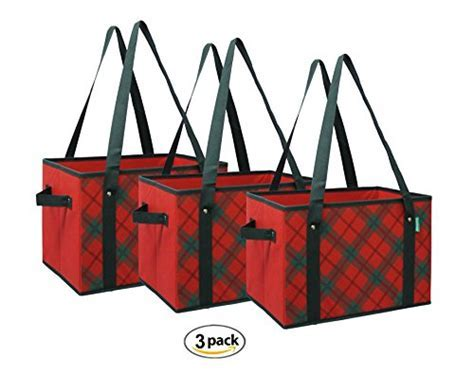 Earthwise Reusable Grocery Bag Shopping Box Tote