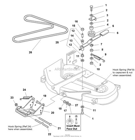 simplicity 1693960 38 quot mower deck parts diagram for 38
