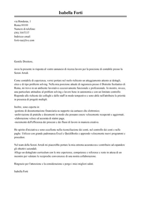 modello lettere dimissioni esempio lettera di presentazione contabile modello