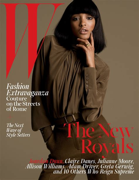 Fashion Designers Issue Model Guidelines by Fashion Model Jourdan Dunn On The Cover Of W Magazine S