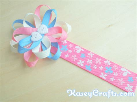 ribbon crafts for how to make flower ribbon bookmark for using