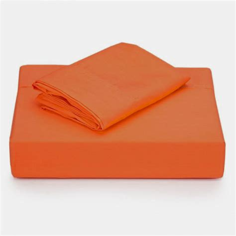 coral orange twin sheet set solid color bed sheets