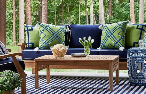 blue outdoor furniture patio furniture with blue cushions roselawnlutheran