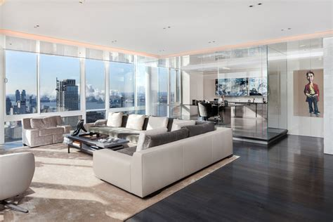 modern apartment living room gorgeous modern apartment above the new york city