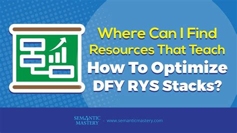 Search Resources Where Can I Find Resources That Teach How To Optimize Dfy
