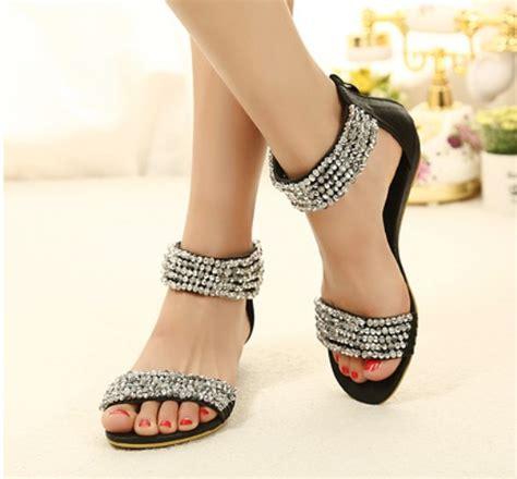 New Design Flat Shoes Farenfar Modestey Black Bohemian Design Black Flat Fashion Sandals On Luulla