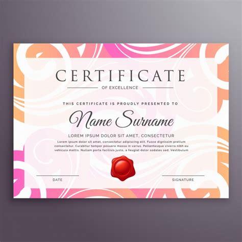 floral design certificate edmonton stylish floral certificate design template vector free
