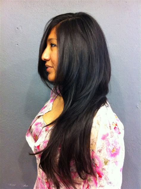 razor cut layers around face long hair with lots of sexy layers razor cut face