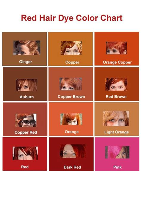 shades of red color palette and chart with color names 15 best images about hair on pinterest red hair colour